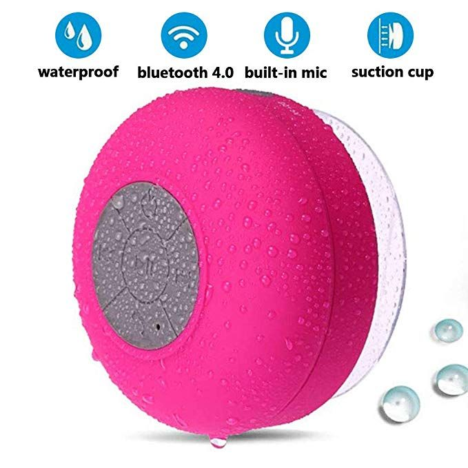 Waterproof Shower Speaker Don T Let The Water Stop You From Enjoying Your Favorite With Images Shower Speaker Waterproof Shower Bluetooth Speaker Wireless Shower Speaker