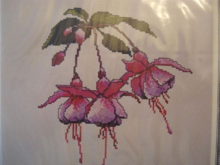 """Fuchsia"" ~ Cross Stitch Pattern"