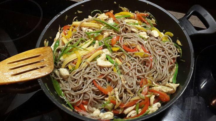 Лапша с овощами и курицей - рецепт - как приготовить - ингредиенты, состав, время приготовления - Леди Mail.Ru