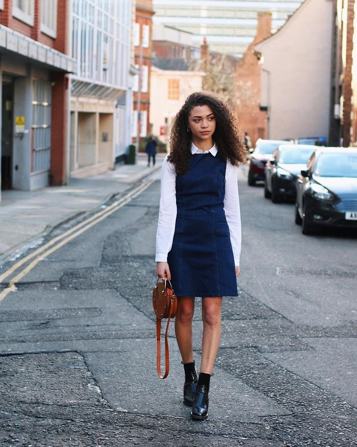 Our Cutabout Denim Shift Dress, featured by @CharnelleGeraldine on Instagram. Click the image to shop the look #oasisfashion