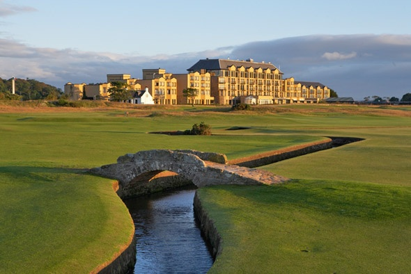 St. Andrews, Scotland - my brother played golf, I drank with some fun Canadians, we all got great sweaters.