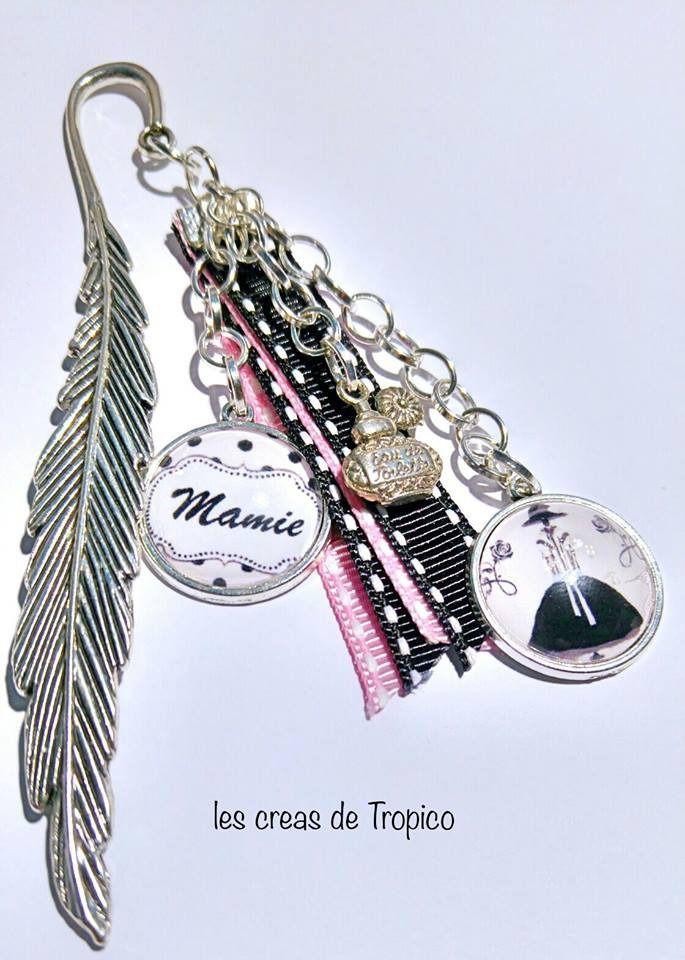 marque page mamie avec cœur mannequin pin up- fête des grand-mères : Autres bijoux par les-creas-de-tropico