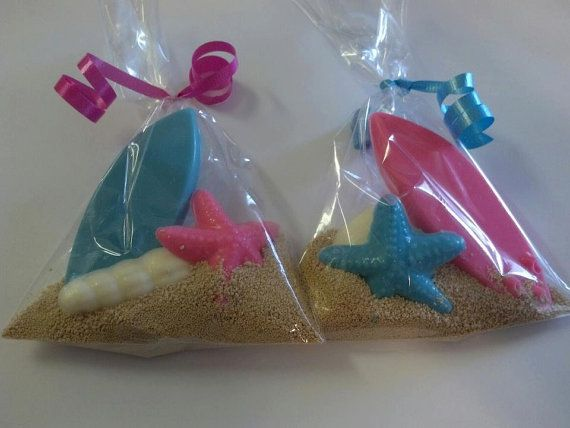 Pool Party Gift Bag Ideas 25 kids loot bag party favor ideas Chocolate Surfboard Party Favor Bags Luau Party Favors