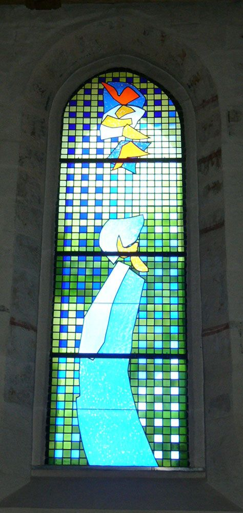 stained glass window by Brian Clarke