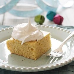 Skinny Eggnog Cake- a simple dessert that's perfect for a last-minute ...