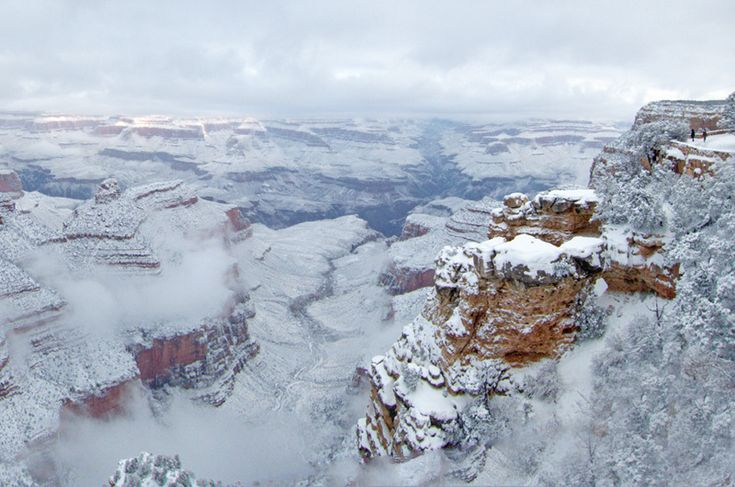 Snowstorm at the Grand Canyon. photograph by Michael