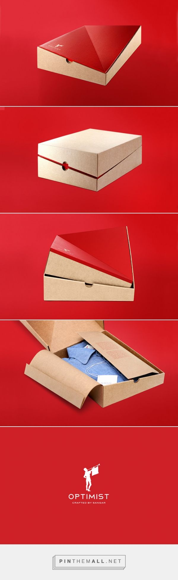 Sangar Optimist #shirt #packaging designed by Taevas Ogilvy - http://www.packagingoftheworld.com/2015/10/sangar-optimist.html
