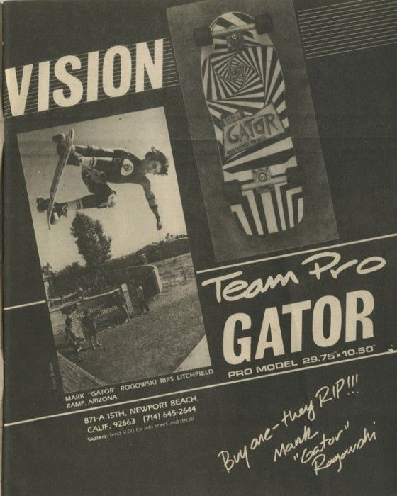 Vision Skateboards - Team Pro Gator Ad (1984)