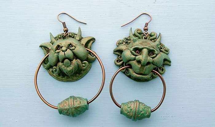 Labyrinth Movie And Book Door Knocker Earings