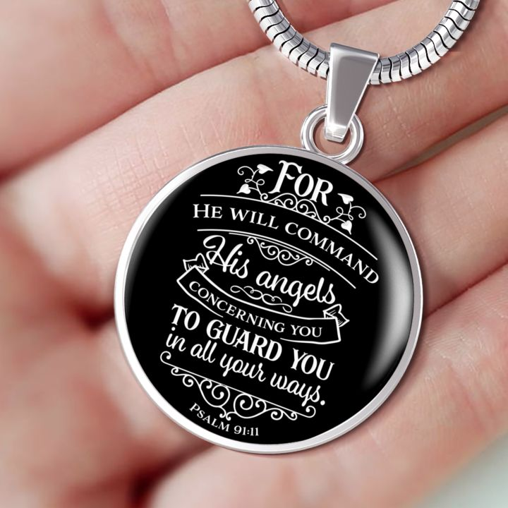 Psalm 91 Faith Gift For He Will Command His Angels Concerning You... Psalm 91:11 Bible Verse Quote Gift