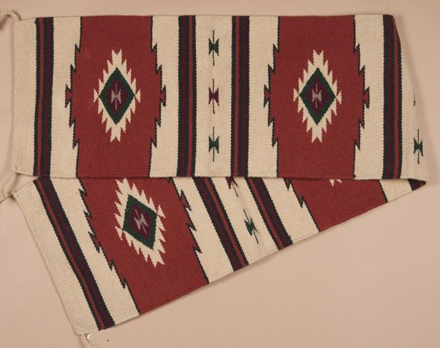 Hand Woven Wool Indian Style Southwest Table Runner Featuring An  Outstandingu2026