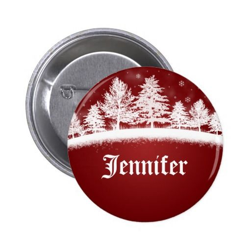 Christmas Name Badge Template Red Buttons #name #Badge