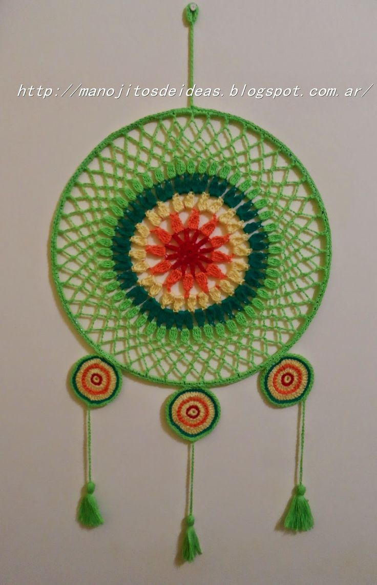 MANOJITOS DE IDEAS: Mandala a Crochet                                                                                                                                                     Más