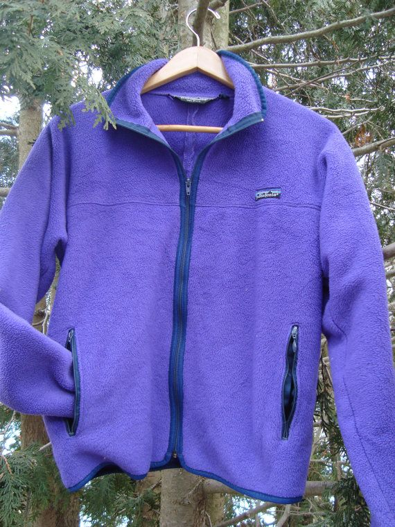 Vintage Patagonia Fleece Purple Womens Zip Up  90s by FleecenStuff