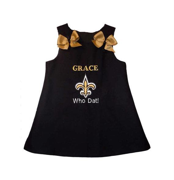 Saints Personalized Aline Dress Fleur De Lis by made4yougifts, $39.95