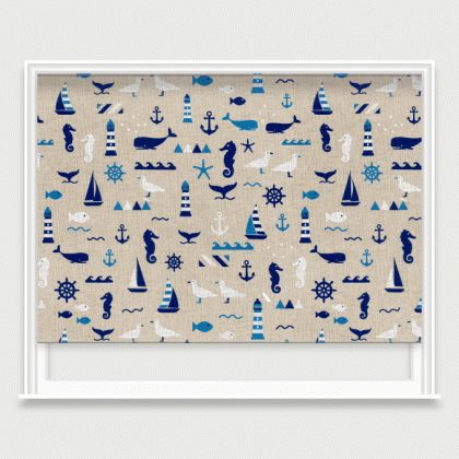 Image result for nautical roller blinds