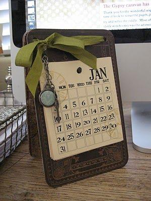 .: Diy Calendar, Crafts Ideas, Homemade Calendar, Diy Crafts, Gifts Ideas, Calendar Stands, Calendar Ideas, Desks Calendar, Desktop Calendar