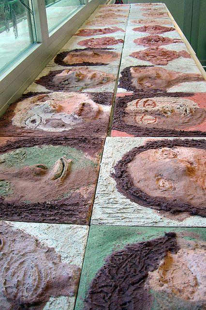 Zelfportret met gekleurd cement