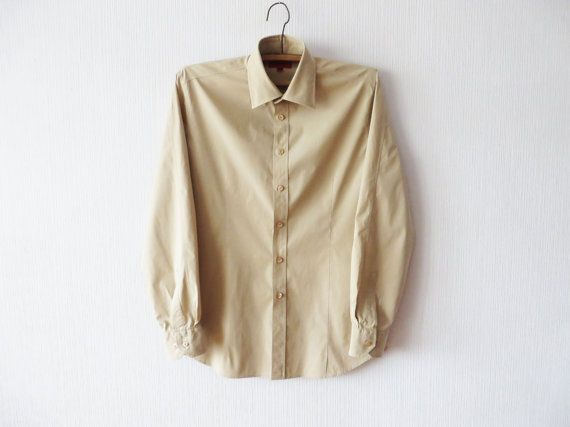 199.18 kr. Hugo Boss Beige Brown Fitted Dress Up Shirt by MenswearFashion