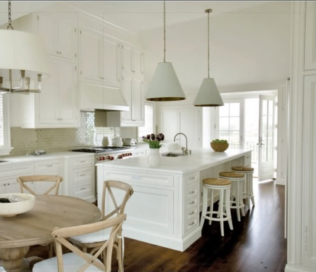 Hamptons Style With Sink In Island Bench Kitchens