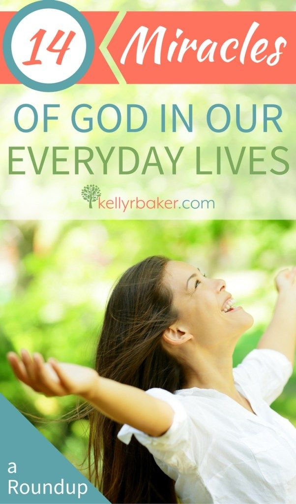 We serve a God of miracles! Here is a roundup of 14 stories of God's evident hand in the details in our lives. #thrive #miracles #supernatural #God #Jesus #love #glory