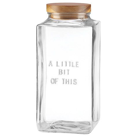 Buy kate spade new york 'Little Bit of This' Glass Jar, Large Online at johnlewis.com
