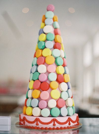 macaron tower at Bottega Louie | via #SMPLiving |  http://www.stylemepretty.com/living/2013/04/04/behind-the-scenes-at-bottega-louie | Photography by BryceCoveyPhotography.com