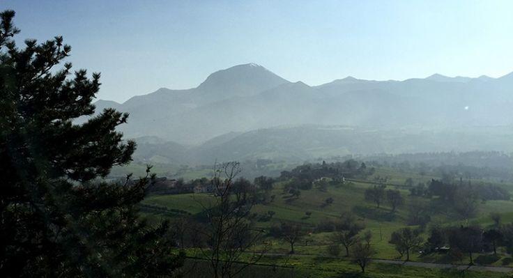 Il monte San Vicino visto da Apiro