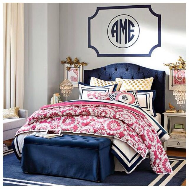 navy pink bedroom navy and pink teen bedroom from pbteen bedrooms 12685