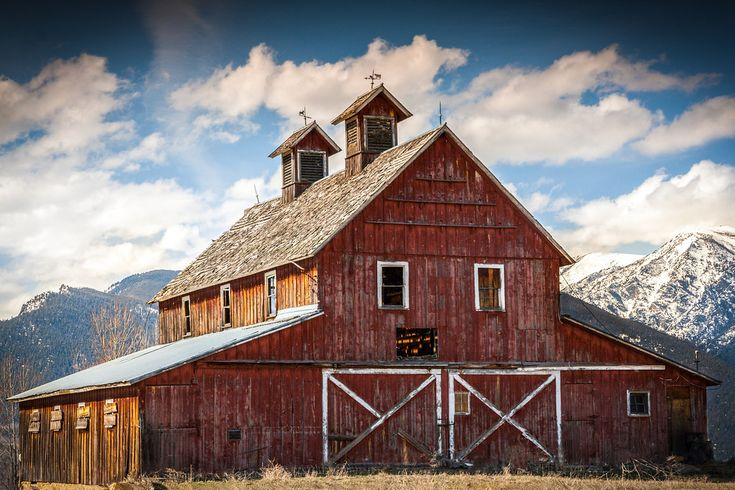 A barn in my gorgeous Bitterroot Valley of Montana that I pass on my way to town every day.  From talented photographer:  ©Mark Mesenko