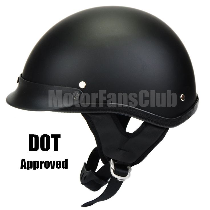 DOT Motorcycle Cruiser Vintage Harley Half Helmet Sun Shield  M L XL Black