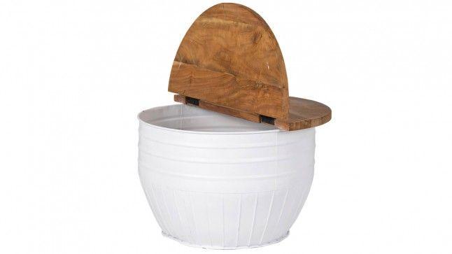 Salontafel Marly round wit