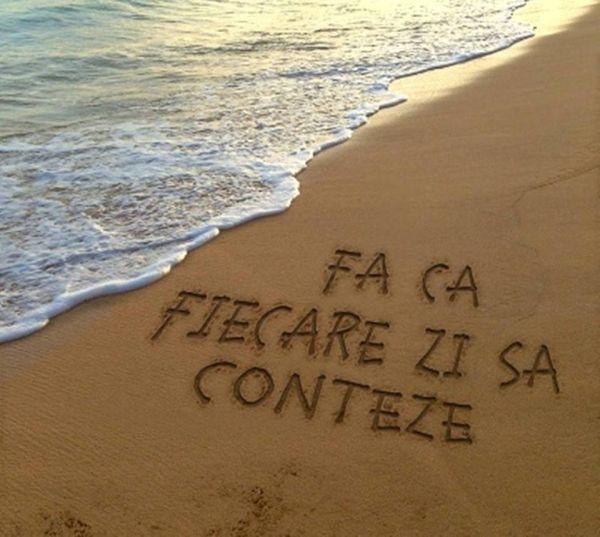 """""""Fa ca fiecare zi sa conteze"""" Iti place acest #citat? ♥Distribuie♥ mai departe…"""