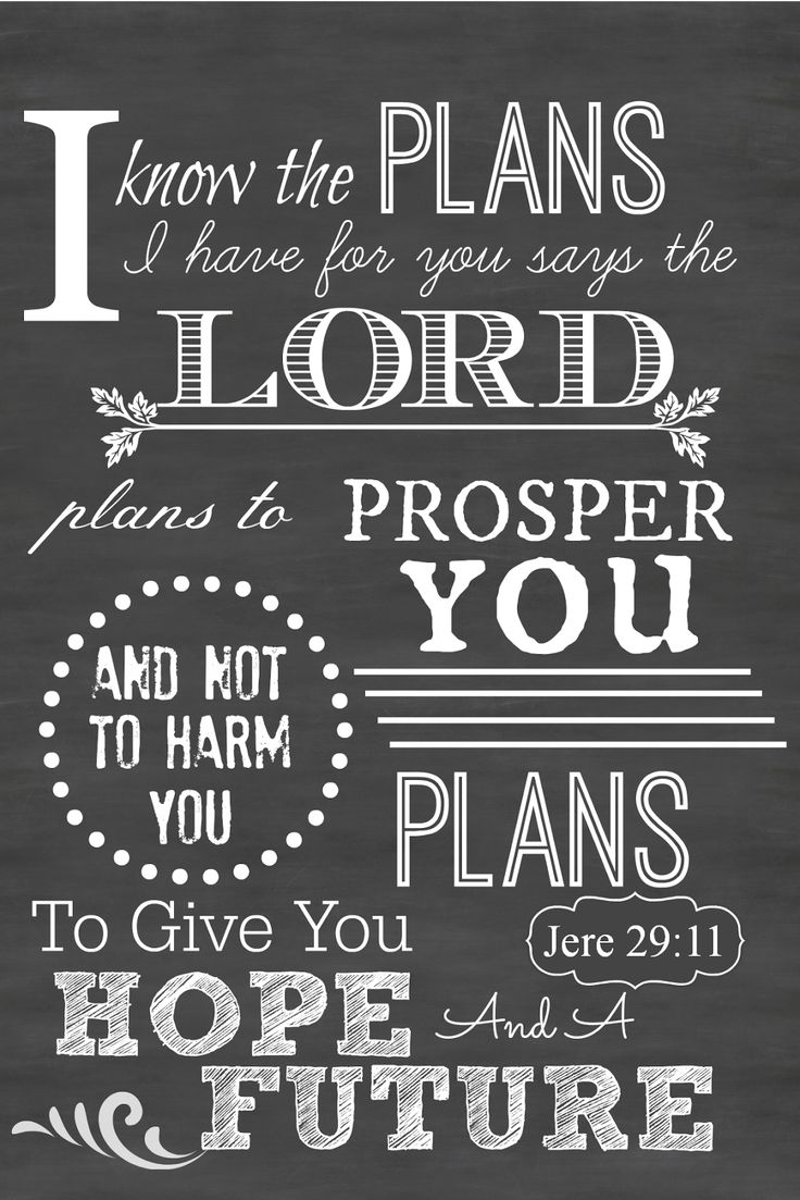 Jeremiah 29:11 Printable Chalkboard Art from StoneGable