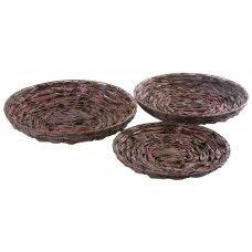 Palm Leaf Bowl - Round - Set of Three £49.99