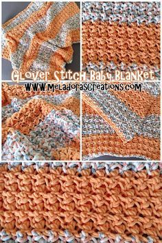 Glover Stitch Baby Blanket – Free Crochet Pattern & Video tutorials By Meladora's Creations