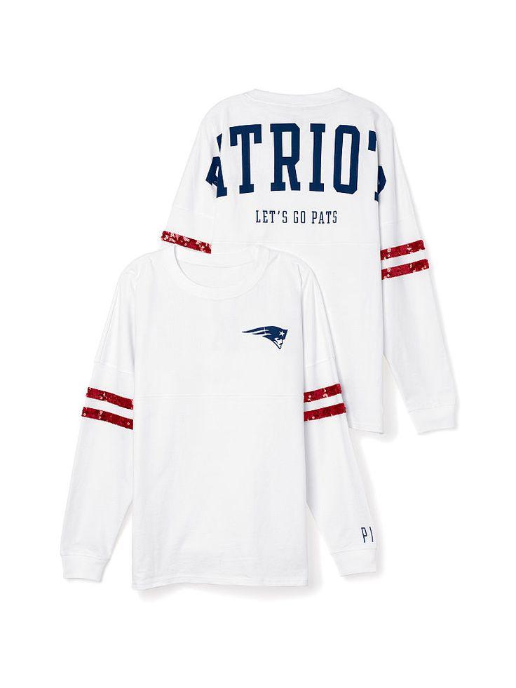 New England Patriots Bling Varsity Crew - PINK - Victoria's Secret https://www.fanprint.com/licenses/new-england-patriots?ref=5750