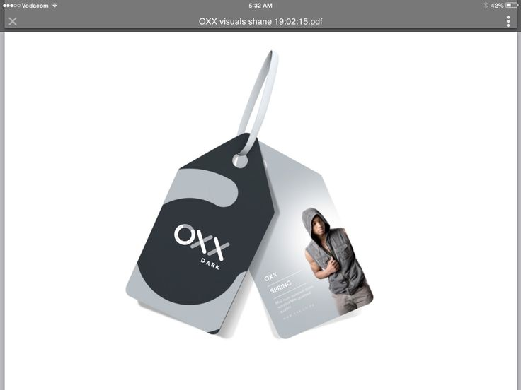 OXX Swing Tags Dark