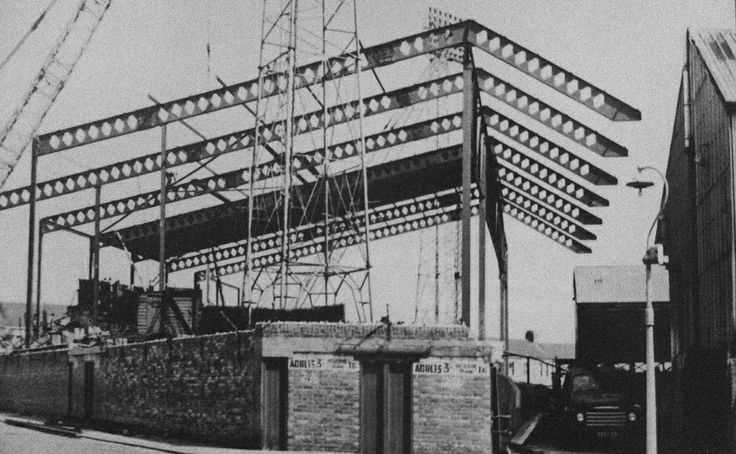 Fulwell End roof under construction, c1964