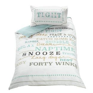Snooze Typography Bedding Set Single At Argos Co Uk Visit