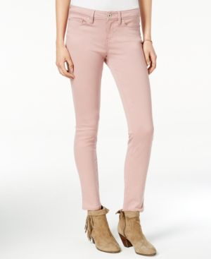 American Rag Colored Wash Super-Skinny Jeans, Only at Macy's - Pink 11S