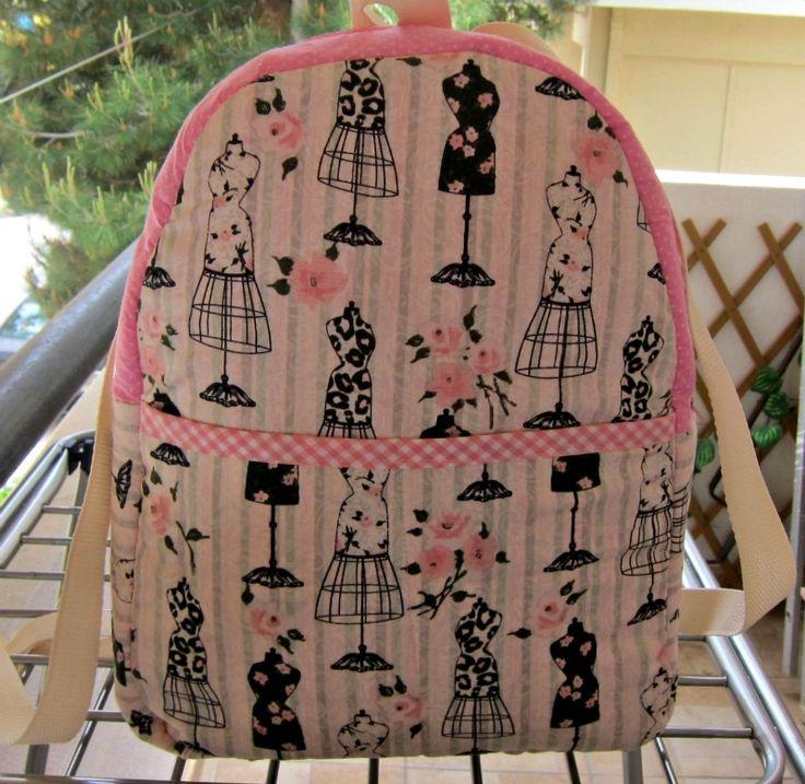 Μανεκέν  backpack - RiRi Yfasma (RiRiYfasma.gr)