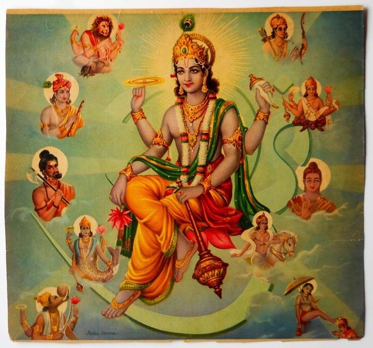 Lord Vishnu n his ten Incarnations❤️❤️
