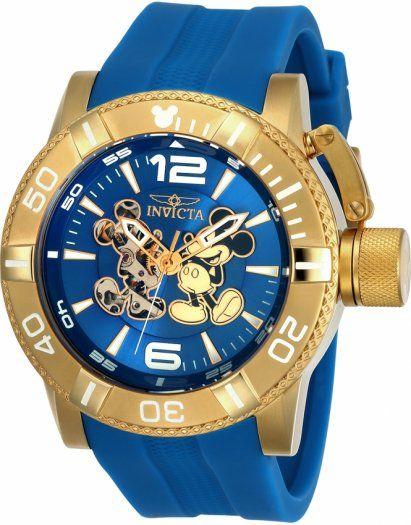 Un perfecto Invicta 23791 Disney Limited Edition, con 50 mm de diámetro y maquinaria automática, conoce este modelo en nuestra tienda online  https://invictamexico.com/invicta-hombre-23791-disney-collection-reloj-acero-inoxidable-azul.html