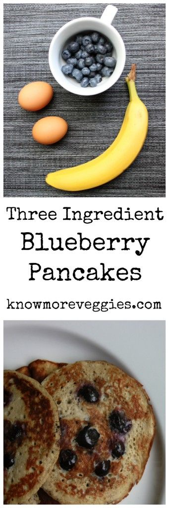 Blueberry Pancakes with Only Three Ingredients Paleo Friendly and Gluten Free