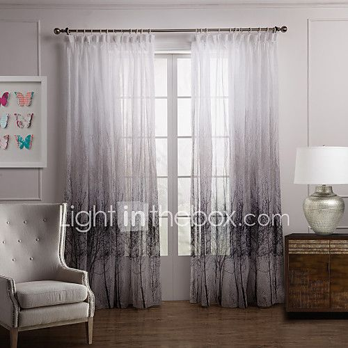 Two Panels Curtain Country Bedroom Polyester Material Sheer Curtains Shades Home Decoration For Window - JPY ¥3,846 ! HOT Product! A hot product at an incredible low price is now on sale! Come check it out along with other items like this. Get great discounts, earn Rewards and much more each time you shop with us!