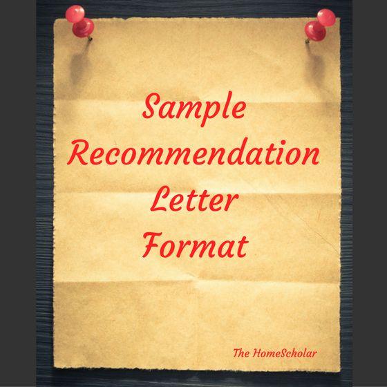 Sample Letter of Recommendation Format
