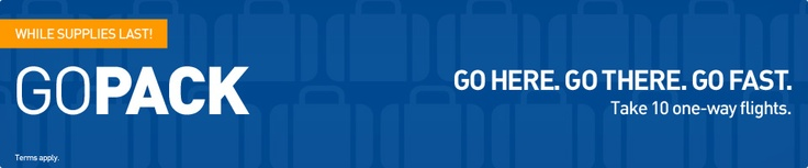 The Go Pack - 10 one way flight packages on Jet Blue!
