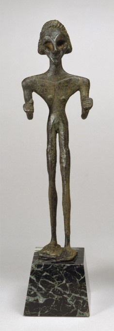 Male Votive Figure of Baal. Syrian (Artist) PERIOD early 2nd millennium BC (Middle Bronze Age (MB I/II A)) MEDIUM bronze. Levantine (in present-day Syria) (Place of Discovery)
