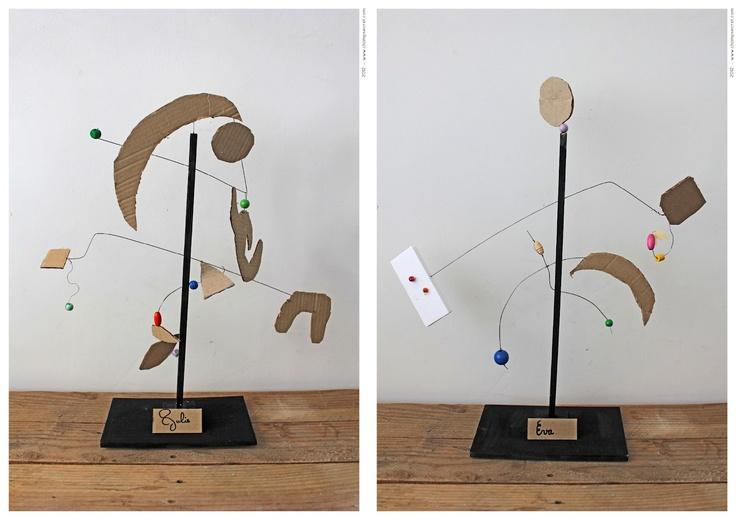 Children's Alexander Calder inspired pieces.